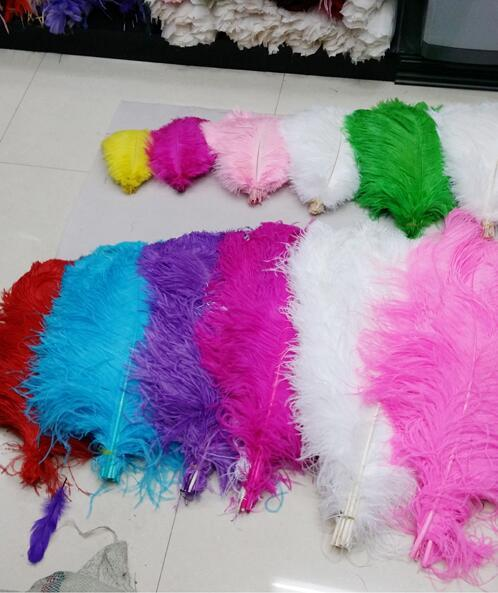 2016 6-7 inch 15-20cm color Ostrich Feathers Thin rod Plume Centerpiece for Wedding Party Table Decoration feather YM41