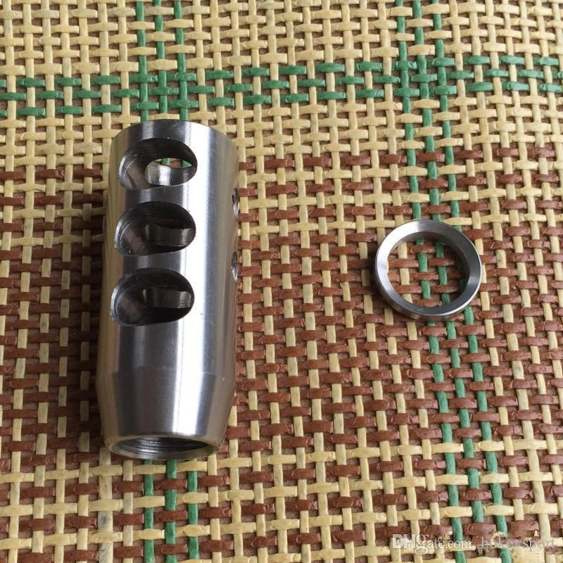 Bokey Sports Stainless Steel 5/8x24 1/2-28 Thread .223 .308 Competition Muzzle Brake,Free Stainless Washer
