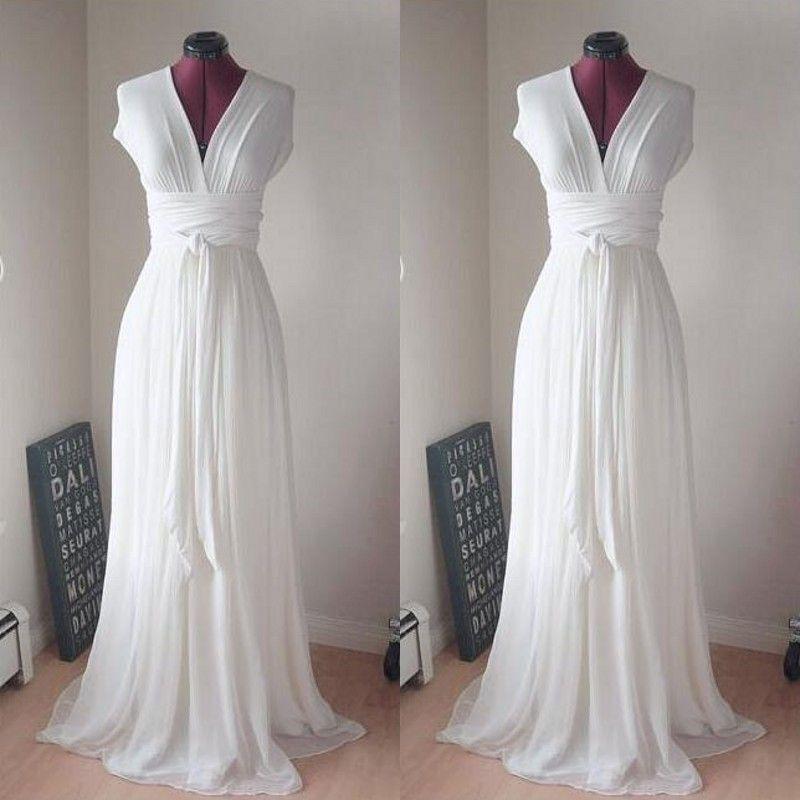 Simple But Elegant Y Beach Wedding Dresses Convertible Ivory