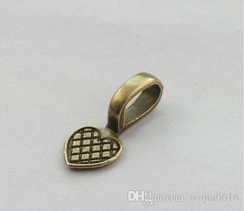 Envío gratis 100 unids pegamento en la configuración de la fianza cabochon colgantes del encanto del corazón Fabricación de joyas DIY es