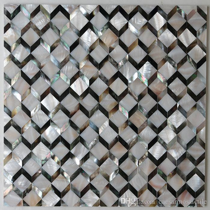 [FREE SHIPPING] Natural color mother of pearl shell Tile , seamless tile, MgO board backer, fresh water & Blacklip shell tile ( MS141)