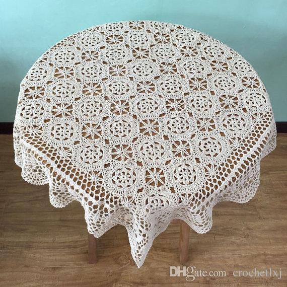 Großhandel Wunderschöne Häkeln Muster Tischdecke 100 Handgemachte