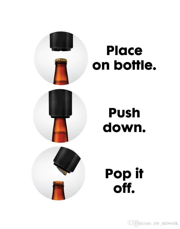 HQY المغناطيس التلقائي زجاجة فتاحة بار أدوات المطبخ الحياة جيد مساعد الفولاذ المقاوم للصدأ فتاحة أفضل هدايا عيد الميلاد الخاصة بك