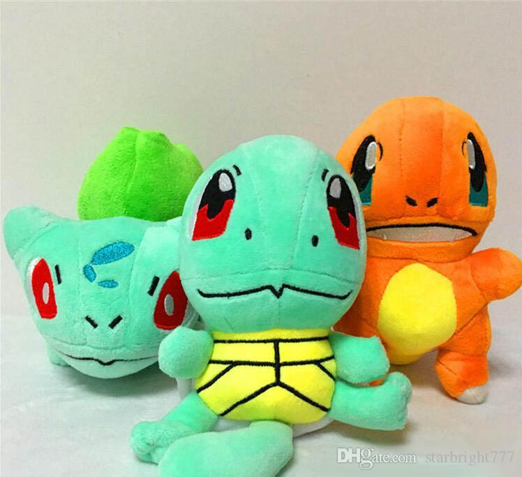 8 Inch Poke Figures Plush dolls toys 20cm children Pikachu Charmander Bulbasaur Jeni turtle Poke Ball Plush dolls Christmas gift