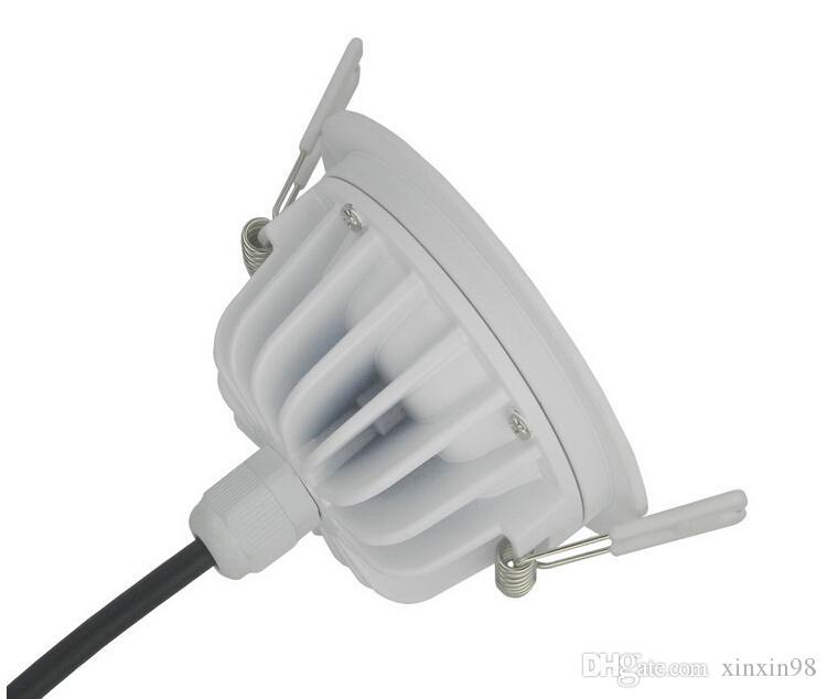 Haute qualité ultra luminosité 15W étanche led downlight ip65 rond 15W Dimmable encastré Led lampe de plafond + driver étanche AC85-265V