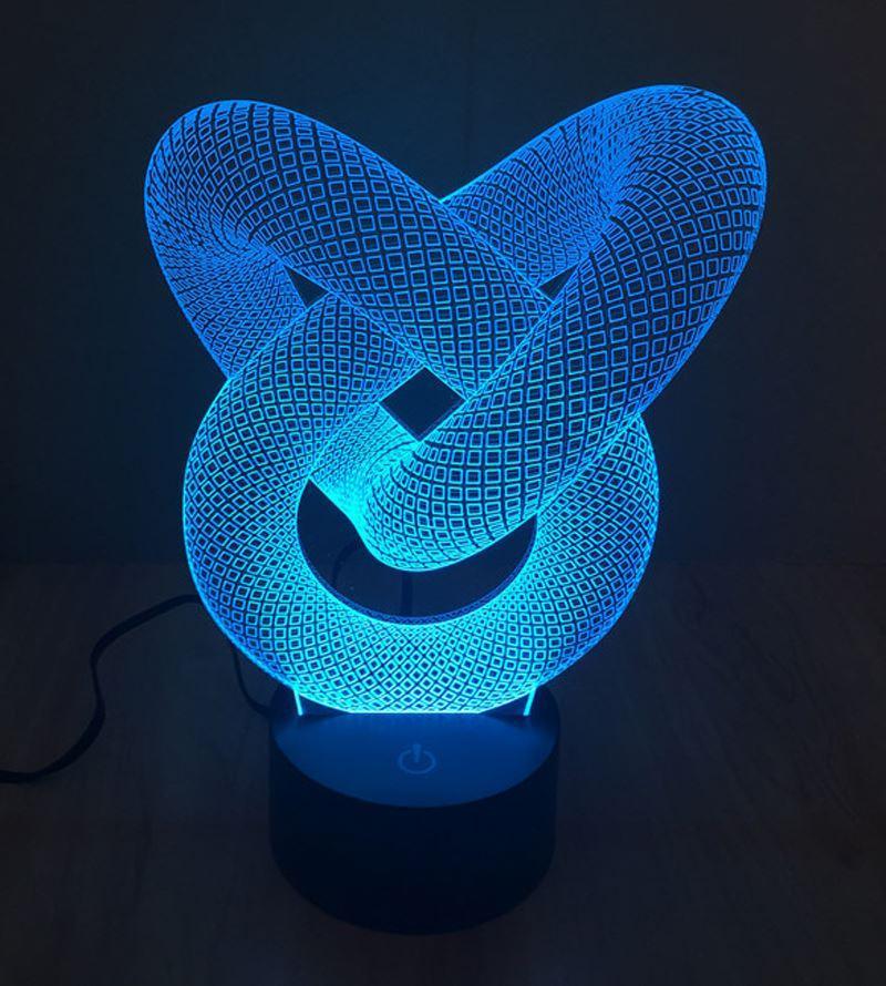 Novelty Lighting Snake Shape Table Lamp 3d