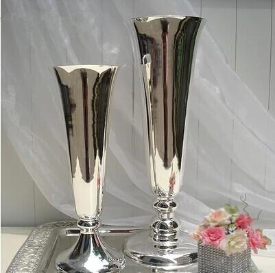 Silver Color Vase Wedding Decoration Big One 5015cm Small One 40
