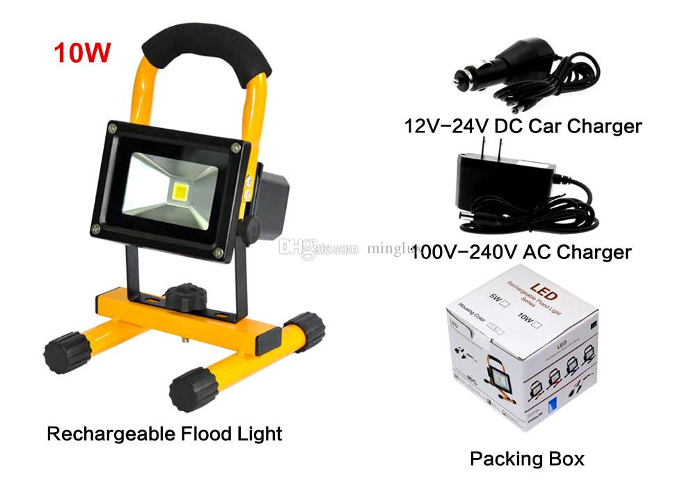 portable led flood lights 10w durable handy led work lamp outdoor waterproof hiking camping lamps