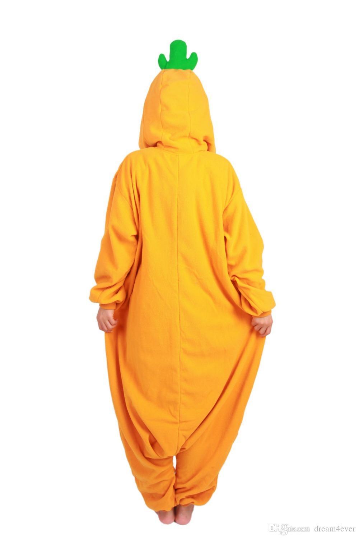 SS Winter long sleeve Yellow orange Anime Onesie Sleepwear Cosplay Carrot Costume Pajamas Adult Pyjamas Party