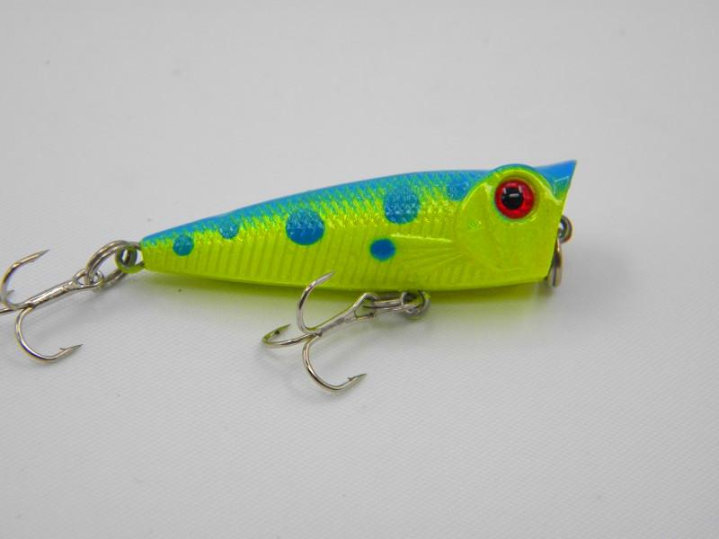 High quality Poppers Fishing lure top water pesca fishing 5cm 5g 3D Eyes Poper isca artificial baits