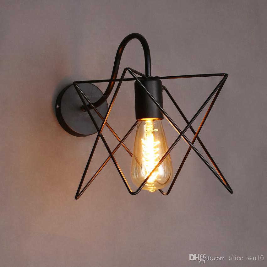 Online Cheap Vintage Iron Cage Wall Lamp Retro Loft Hallway Stairs ...