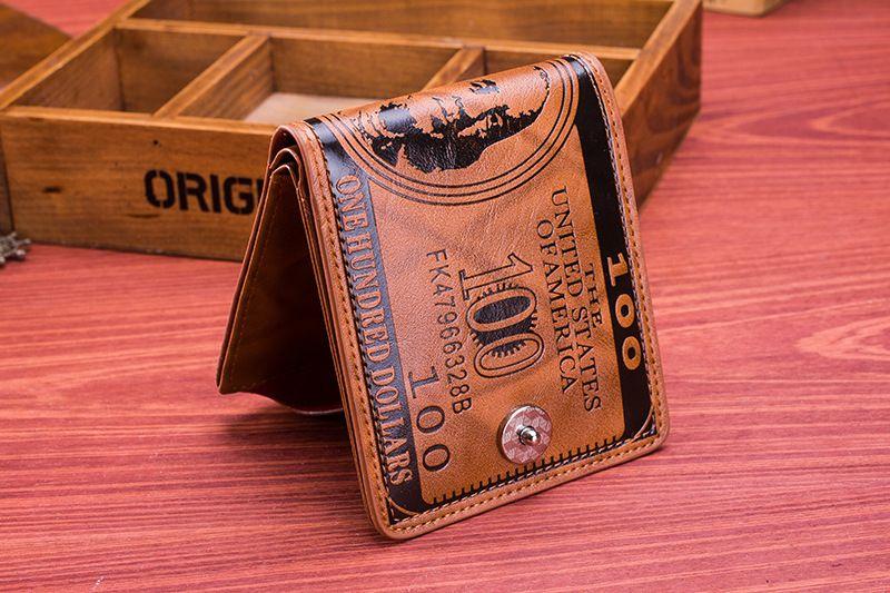 2016 homens da moda bolsa do dólar carteira mix de couro designer de criatividade titulares de cartão carteiras para homens mens carteira atacado