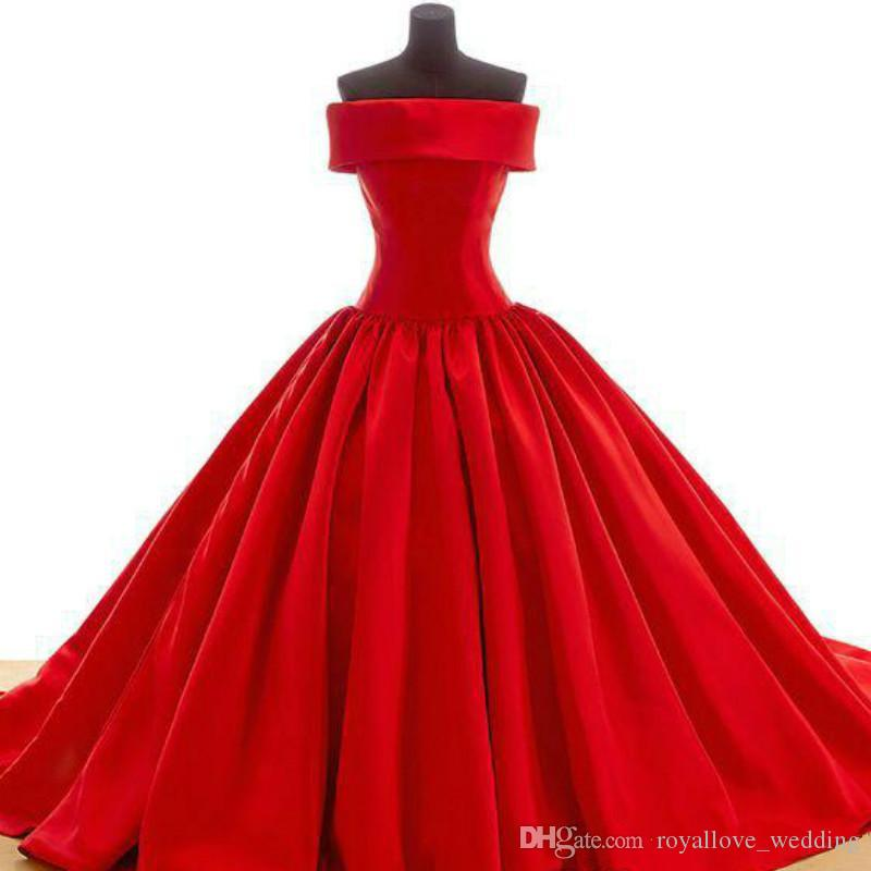 Formal Pageant 2017 New Fashion Red Ball Gown Satin Long Evening Dress Strapless Lace-up Charming Evening Dress