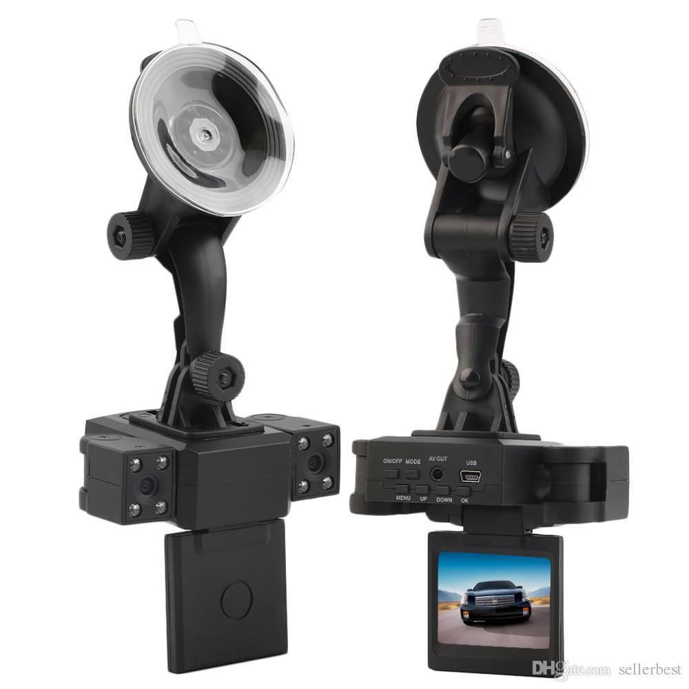 Objektiv Camcorder H3000 Auto DVR Dual Kamera HD 1080P Dash Cam Black Box Mit Hinten 2 Cam Fahrzeugansicht Dashboard Kameras Transformatoren