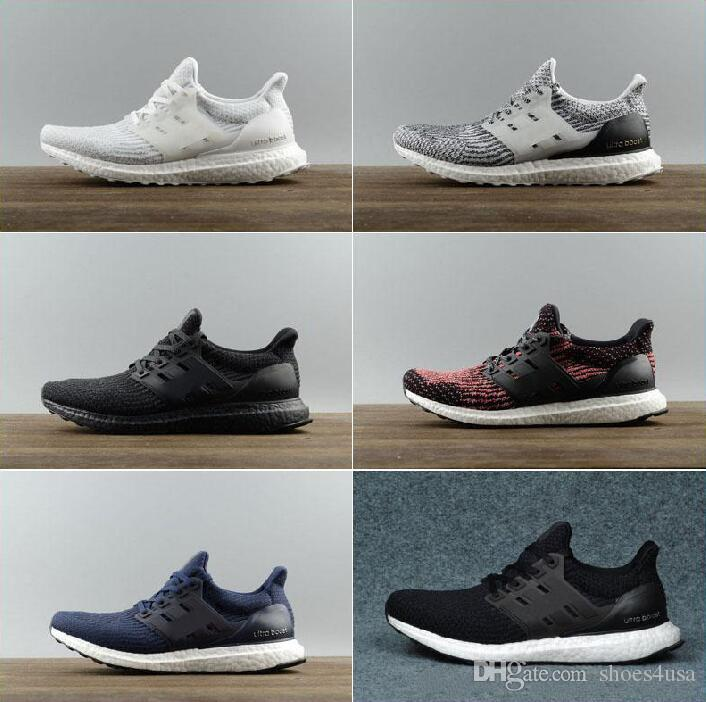 49fa92b17 Ultra Boost 3.0 Triple Black White Primeknit Oreo CNY Blue Men Woman ...