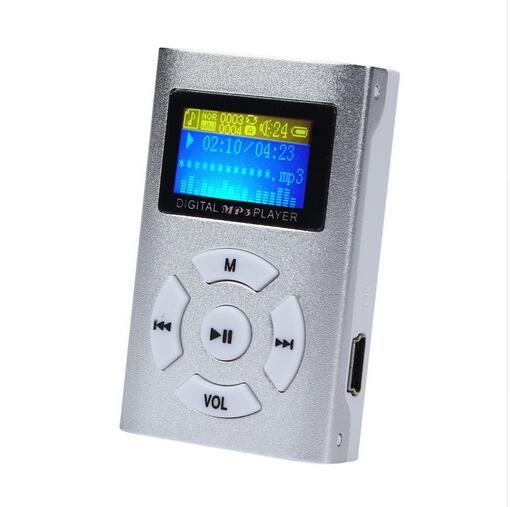USB Mini Música Pantalla LCD Soporte 32GB Micro Memoria MP3 Digital Con Auriculares Cable USB con Caja Al Por Menor envío gratis