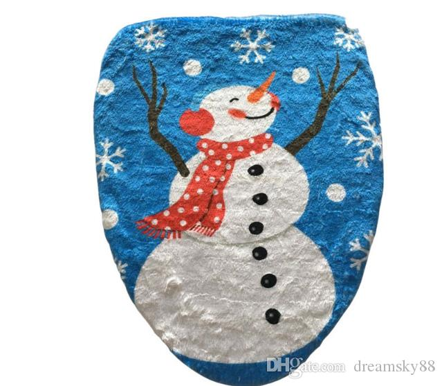 2017 neue 4 Arten Weihnachten Santa Schneemann Toilettensitzabdeckung Badezimmer Weihnachten Urlaub Dekoration Geschenk
