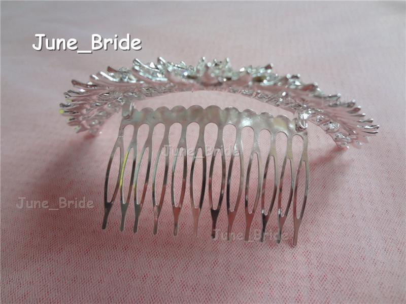 Real Photo Shinny Bridal Crown Layered Crystal Rhinestone Wedding Hair Accessories Comb Hair Wear Headpiece New Arrival Design