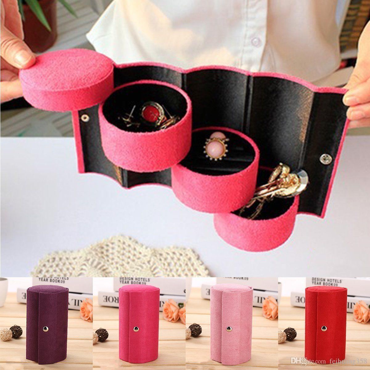 2018 Velvet Jewelry Ring Bracelet Earring Storage Container