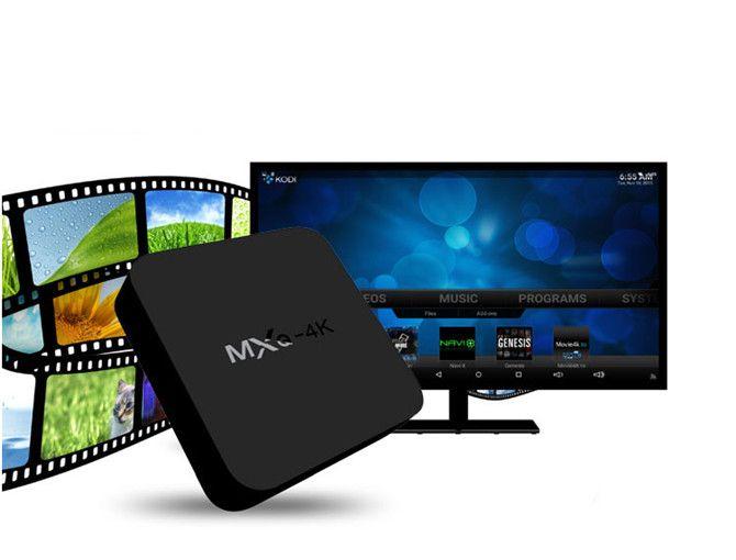 MXK 4K TV Box Rockchip RK3229 Android 1GB / 8GB 2.4G Wifi KDPLAY OTA H.265 60tps Soutien 4K 60tps