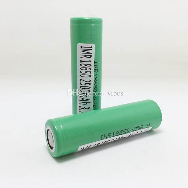 Authentische Garantie - Korea 25R 18650 Wiederaufladbare Batterie mit Samsung MSDS-Bericht - 2500mAh Hohe Abfluss-Lithium-Batterien-Zelle auf Lager