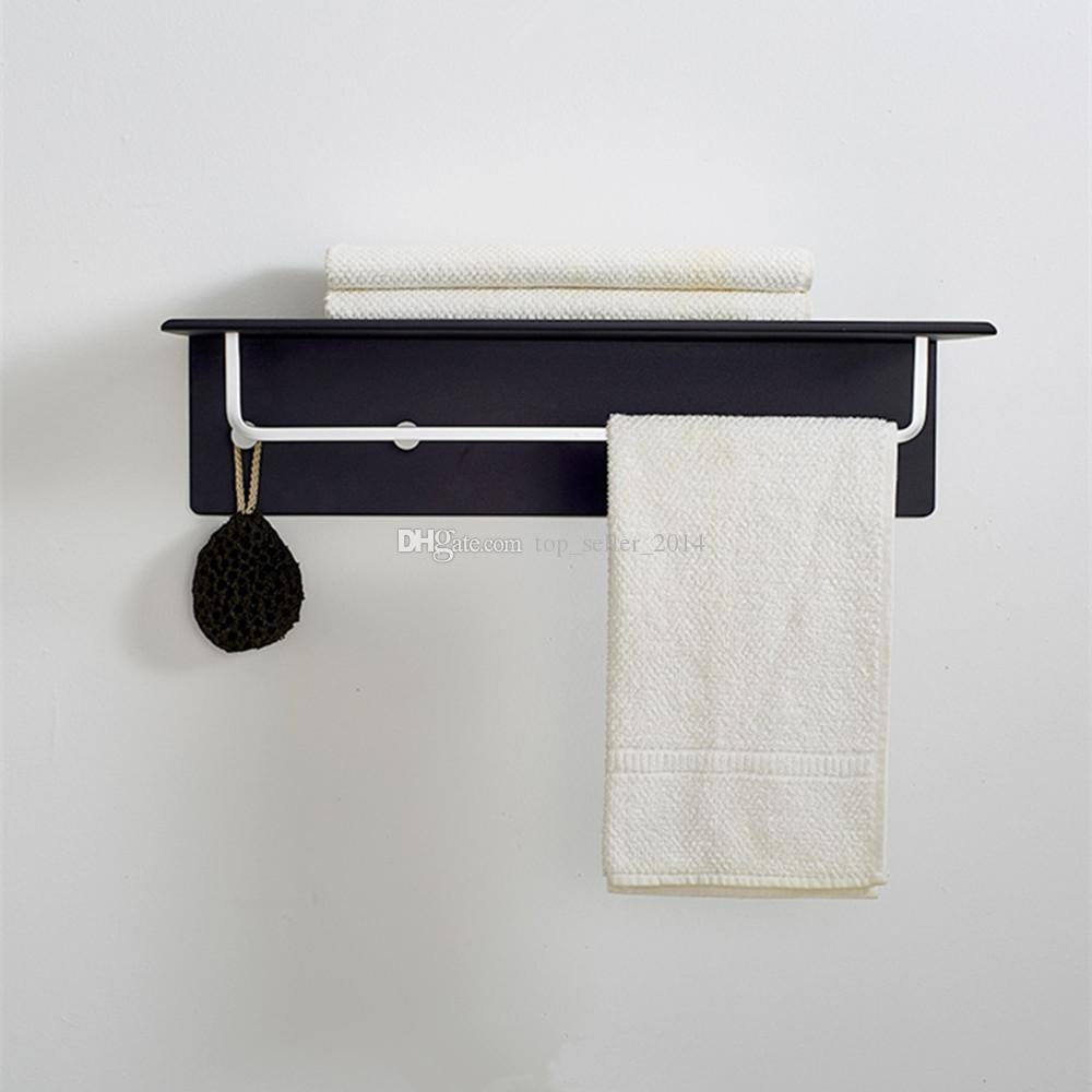 double wall mounted bathroom towel rail holder storage rack shelf bar 4 hooks bedroom high quality from dhgatecom