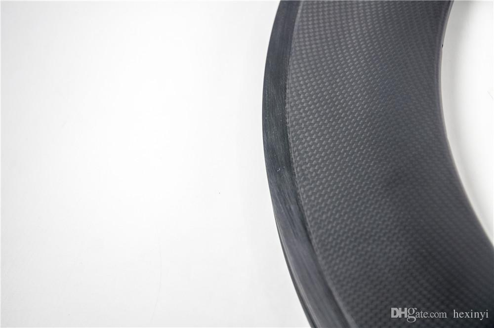New 700C 88mm Road bike matte 3K UD 12K full carbon bicycle wheelset clincher tubular rims basalt brake surface 20.5/23/25mm width Free ship