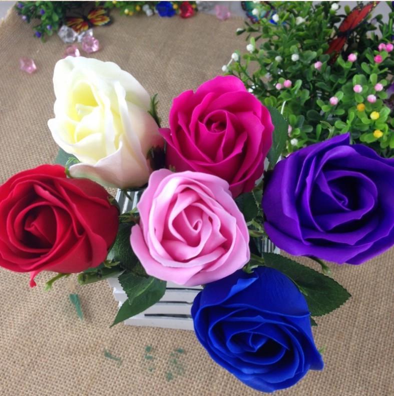 2018 2017 Valentine Red Rose Soap Flower Romantic Bath Flower Soap ...