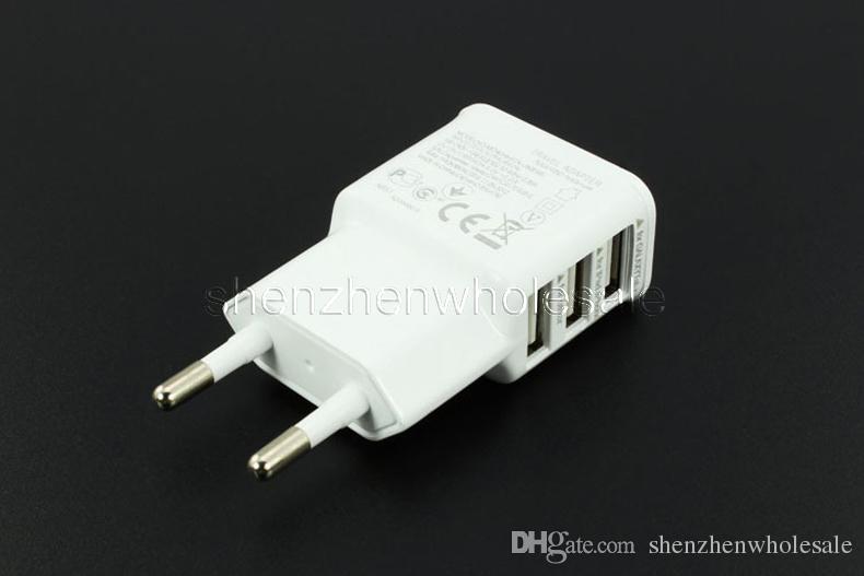 Universal Triple Three Ports 5V 2A EU/US Plug Usb Travel Wall AC Charger Adapter For Smart Phone Xiaomi Mi Max Mi4 Mi4c Mi4s Note 3