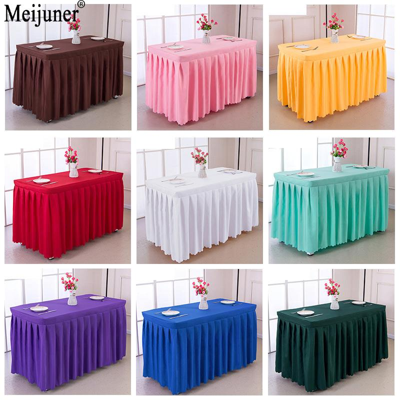 Meijuner XXcm Hot Hotel Conference Room Table Skirt Polyester - Conference table covers