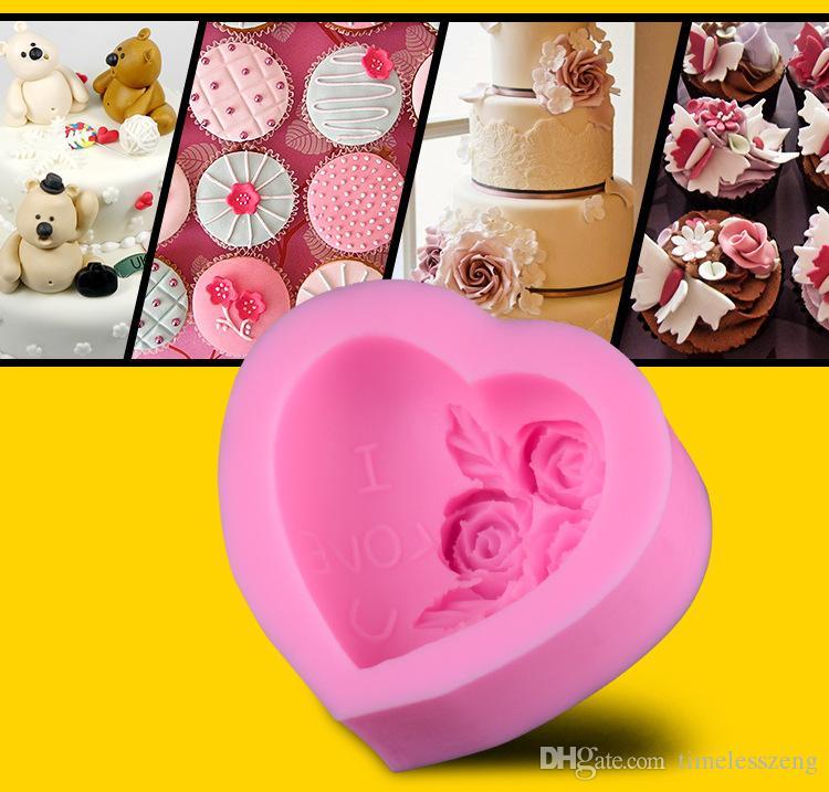 Stampo dolci fondente zucchero a forma di cuore fai-da-te Stampo dolci fatto a mano San Valentino