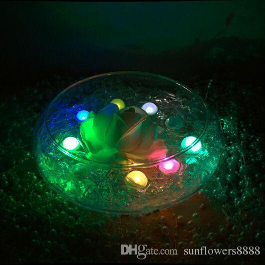 Hotselling / set perles de fée à piles Mini scintillement LED baies de lumière LED 2CM Ballon flottant de LED pour la fête de mariage