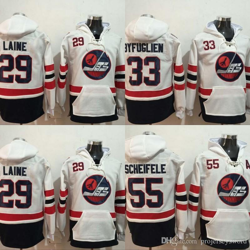 low priced 65cf4 60e62 Winnipeg Jets 2016 Heritage Classic Patch 29 Patrik Laine Hoodies Men s  100% Stitched 33 Dustin Byfuglien 55 Mark Scheifele Hockey Jerseys