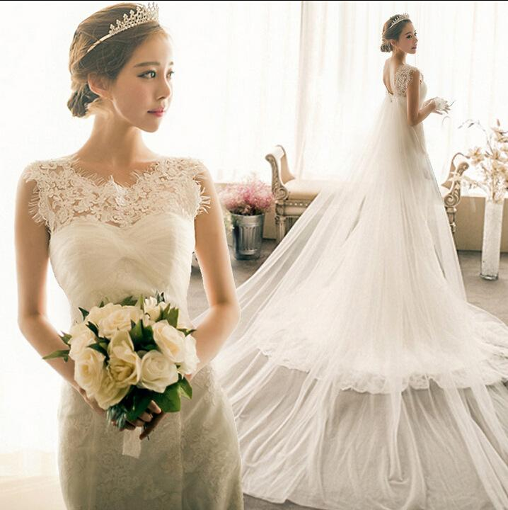 2016 New Lace Appliques Mermaid Bridal Gown Fish Tail Fashionable ...
