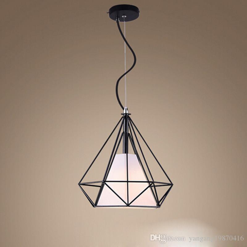 Pendant Lights E27 Retro Industrial Pendant Wrought Iron Light Bar Coffee Shop Chandelier Indoor Hanging Lamp Highly Polished