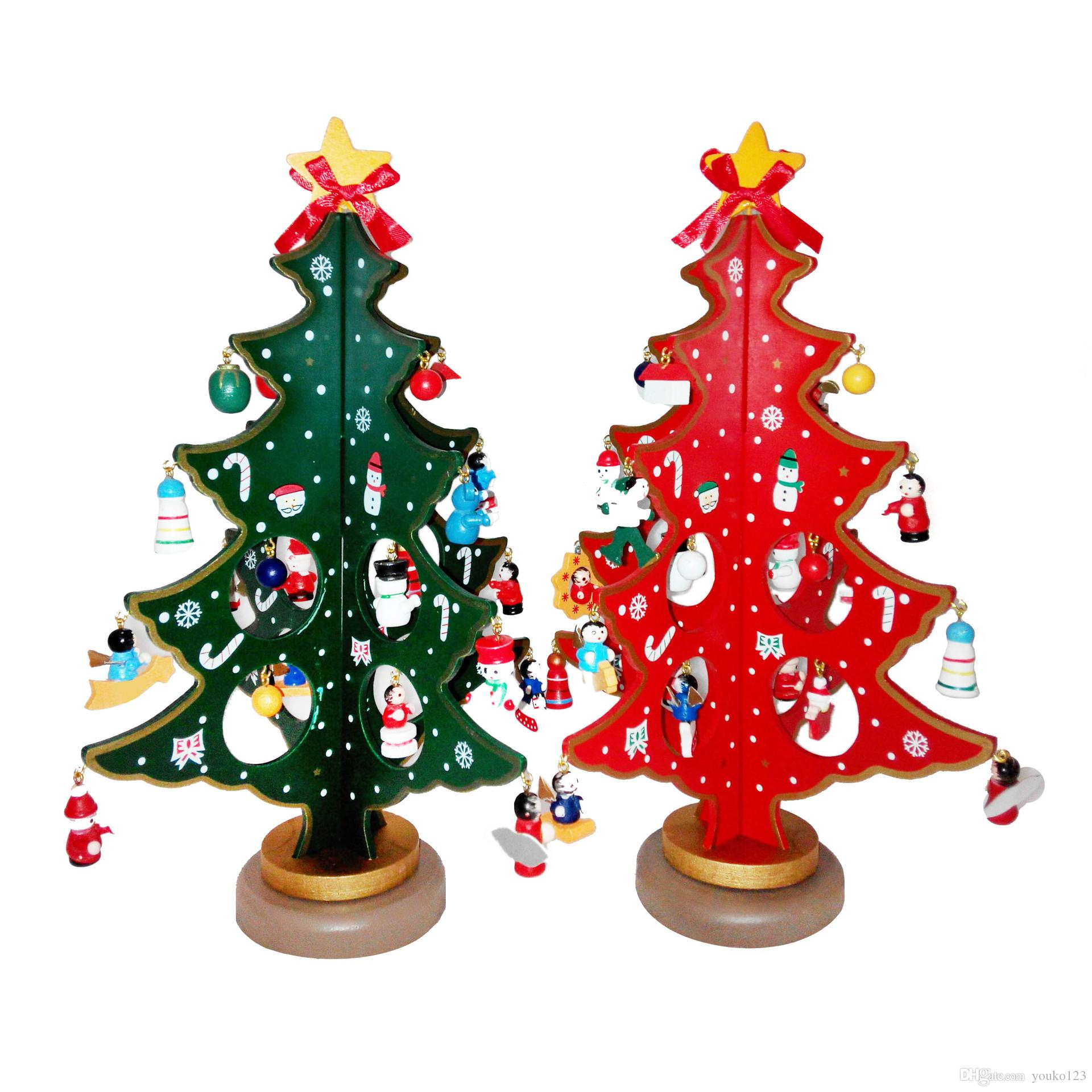 creative christmas ornaments festive gifts handmade wooden christmas tree desktop decoration diy manual assembly gift box buying christmas decorations cheap - Wooden Christmas Decorations