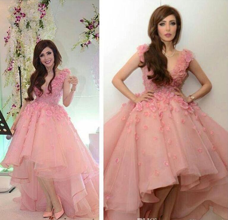 Compre Vestido De Fiesta Rosa Corto Frente Largo Espalda Tulle ...