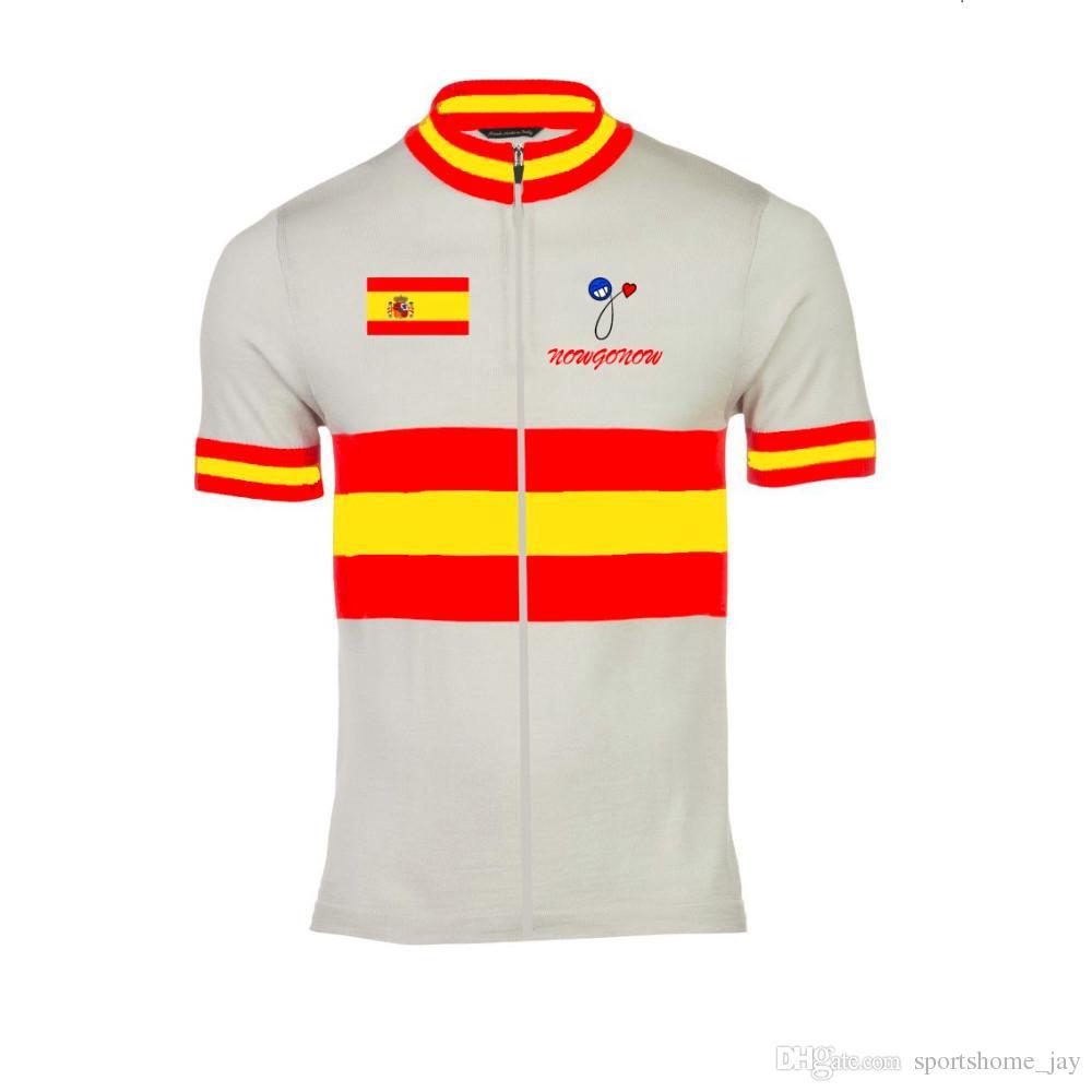 Offre spéciale 2016 vêtement de cyclisme de vélo porter des vêtements Hollande Belgique Australie Espagne Pays-Bas drapeau national équipe pro maintenantgonow