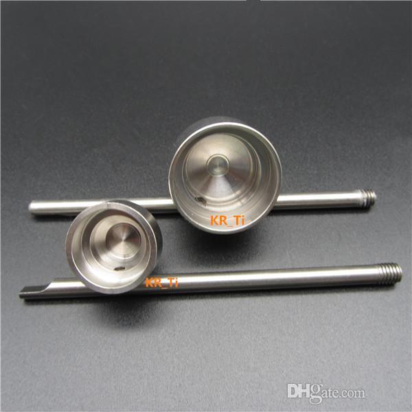 Heißer Verkauf Titan Carb Cap mit Titan Dabber oben und einem abgewinkelten Loch für 10mm 14mm und 18mm Titan Nagel Glas Bongs