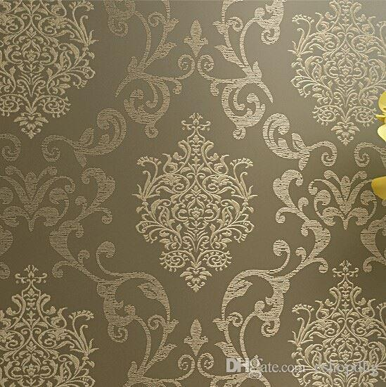 Non Woven Wallpaper Damask European Vintage Wallpaper Wall Covering