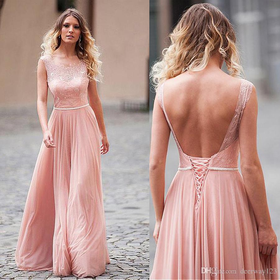 Compre Escote Redondo Una Línea De Vestidos De Baile Con Rebordear ...
