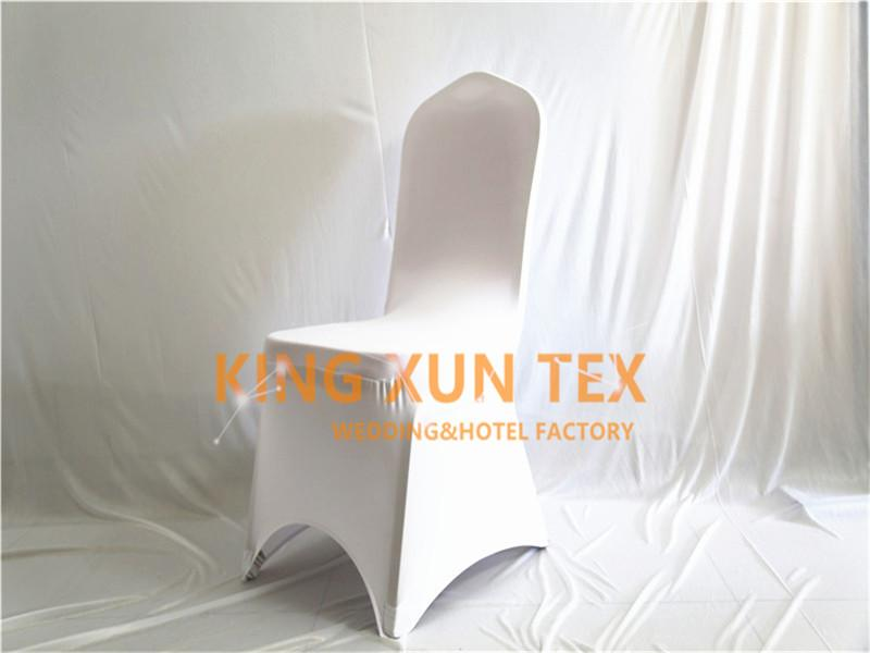 White Color Sold Lycra Chair Cover Cheap Wedding Spandex Chair Cover Good With Arch Front Quality