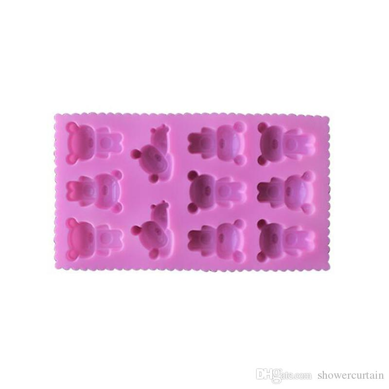 11 Even Cute Bear Shape Muffin Case Candy Jelly Ice Cake Silicone Mould Mold Baking Pan Tray