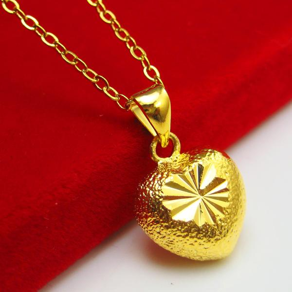 Do not fade heart shaped gold pendant necklace pendant send do not fade heart shaped gold pendant necklace pendant send valentine woman 24k gold plated 999 small jewelry gifts gold necklace gold pendant women aloadofball Image collections