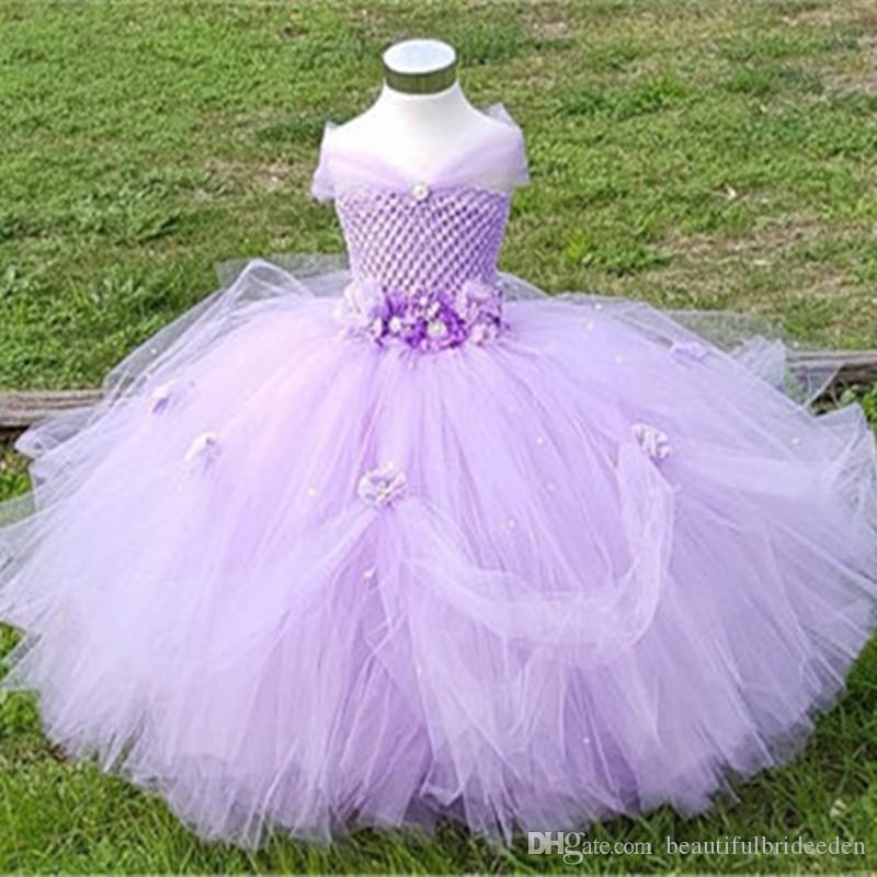 1 8y Princess Tutu Dress Tulle Flower Girl Dress Kids Girl Party ...