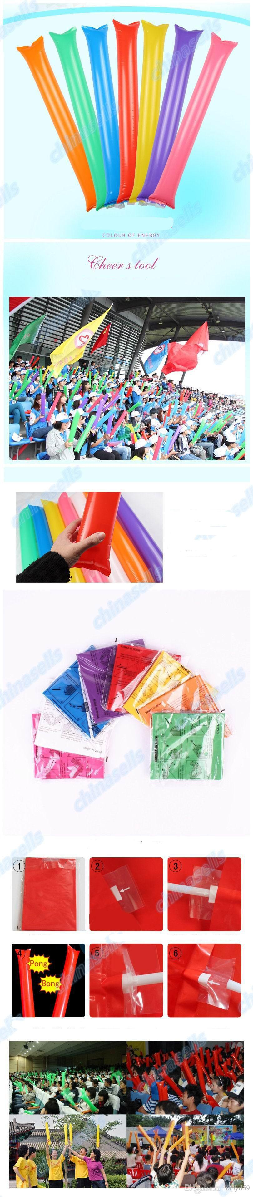 60cm Inflatable Cheer Sticks cheerleaders Palo inflable contra Cheers Sticks Noise Maker ballon dance concert party fan hacen ruido Sup