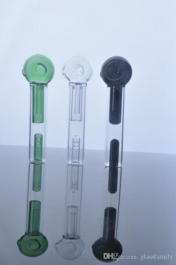 Date à sotre coloré Mini poignée tuyau de verre tuyau de fumage cuillère Bubbler Hybrid déversement preuve de fumer bong livraison gratuite