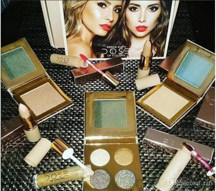 2017 Dose of colors Desi X Katy Set THE GIRLS Eyeshadow Palette Collaboration Collection Matte Lipstick Lip Gloss Highlighter