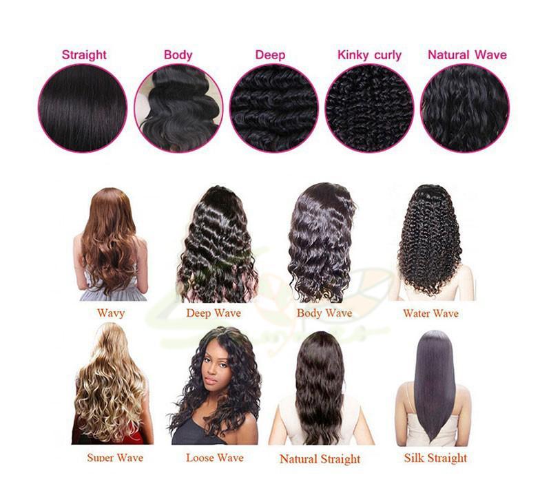 Parrucche piene dei capelli umani del merletto dei capelli vergini cambogiani le donne nere Parrucche anteriori del pizzo 130% di densità parrucche diritte dei capelli umani del pizzo