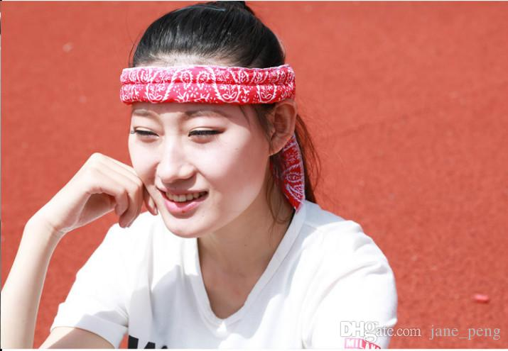 2016 New Arrival Bandana Headband Ice Cool Scarves Neck Sport Cooler Towel Pattern Pure and dot Multi Color Cooling Wholesale